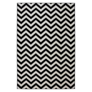 Mohawk Home Chevron Indoor/Outdoor Rug   Black (5x8)