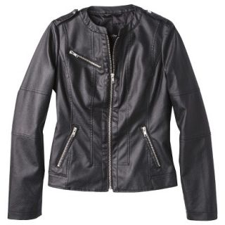 Mossimo Womens Faux Leather Jacket  Black XL