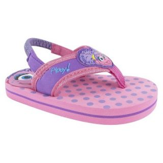 Toddler Girls Abby Cadabby Flip Flop Sandals   Pink 5
