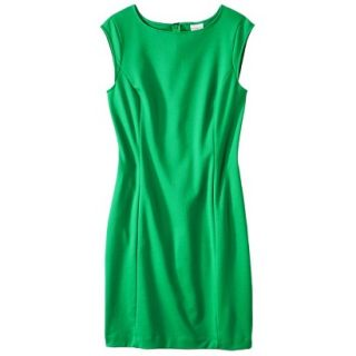Merona Womens Ponte Sheath Dress   Mahal Green   L