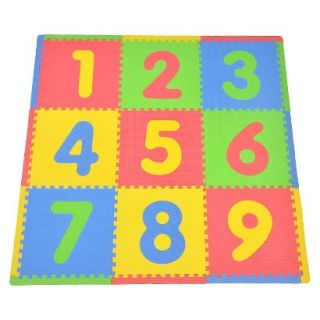 9 Piece Playmat Set   Numbers by Tadpoles