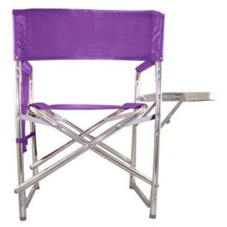 Picnic Time Sports Chair with Table and Pockets   Purple