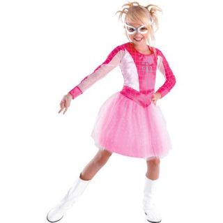 Girls Spider Girl Pink Classic Costume