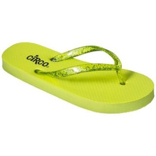 Girls Circo Hillary Flip Flop Sandals   Lime Green L