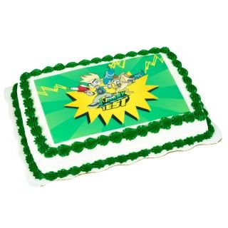 Johnny Test Edible Icing Cake Topper