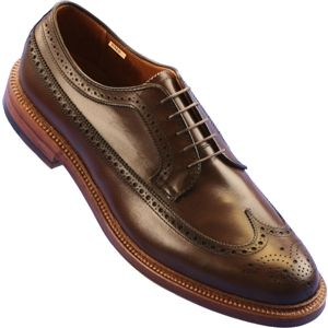 Alden Mens Long Wing Dark Brown Shoes, Size 11 D   97644