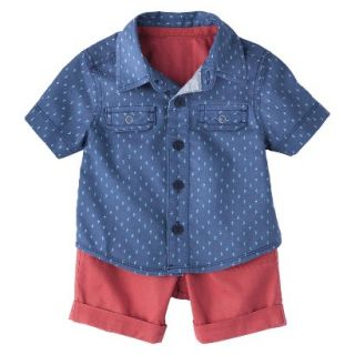 Genuine Kids from OshKosh Newborn Boys Button Down Shirt and Twill Short