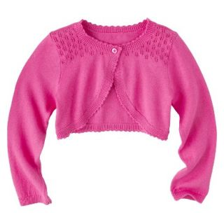Infant Toddler Girls Long Sleeve Cardigan   Pink 2T