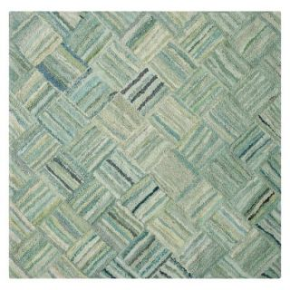 Safavieh Reed Area Rug   Green/Multicolor (6x6 Square)