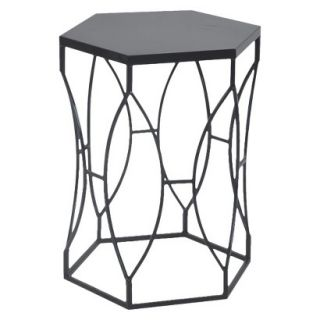Accent Table Threshold Accent Table Matte Metal   Black