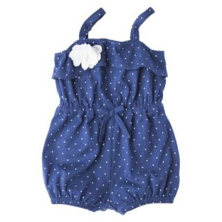 Genuine Kids from OshKosh Newborn Girls Polka Dot Romper   Blue 0 3 M