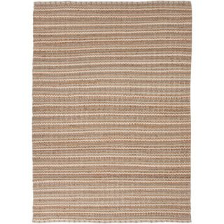 Handmade Naturals Solid pattern Brown Accent Rug (26 X 4)