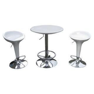 Pub Set Boraam Industries Luna Pub Table   White (Set of 3)