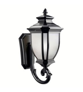 Salisbury 1 Light Outdoor Wall Lights in Black (Painted) 9043BK