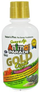 Natures Plus   Source of Life Animal Parade Gold Liquid Childrens Multi Vitamin & Mineral Natural Tropical Berry Flavor   16 oz.