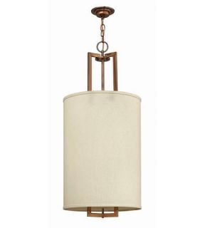 Hampton 3 Light Foyer Pendants in Brushed Bronze 3205BR