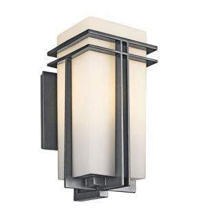 Tremillo 1 Light Outdoor Wall Lights in Black (Painted) 49202BKFL