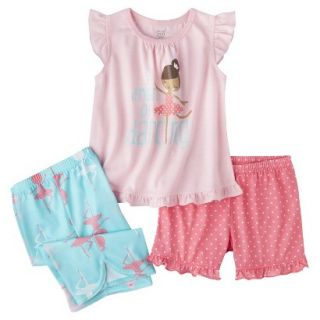 Just One You Made by Carters Infant Toddler Girls 3 Piece Ballerina Pajama