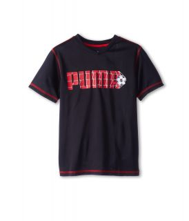Puma Kids Goal Tee Boys T Shirt (Black)