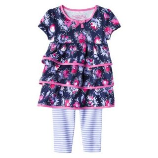 Genuine Kids from OshKosh Infant Toddler Girls Ruffle Tunic & Striped Legging