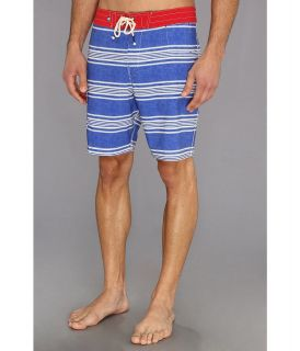 Sperry Top Sider Sailaway Stripe Boardshort Mens Swimwear (Blue)