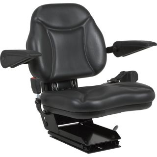 A & I Products Big Boy Suspension Tractor Seat   Black, Model BBS108BL