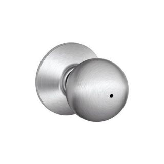 Schlage F40ORB626 Orbit Privacy Door Knob Set from the F Series, Satin Chrome Hardware