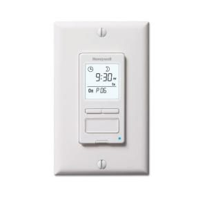 Honeywell Econo Switch 7 Day Programmable Solar Timer Switch for Lights with backlit display RPLS540A1002/U