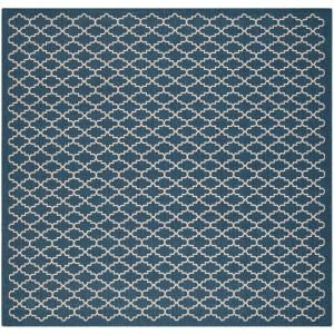Safavieh Courtyard Navy/Beige 6.6 ft. x 6.6 ft. Square Area Rug CY6919 268 7SQ