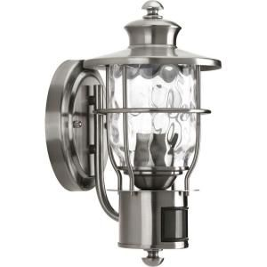 Progress Lighting Beacon Collection Wall Mount 1 Light Stainless Steel Motion Lantern P6025 135DI