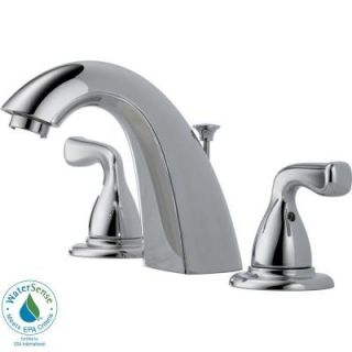 Delta Foundations 8 in. Widespread 2 Handle Mid Arc Bathroom Faucet in Chrome B3511LF PPU