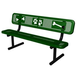 Ultra Play Green Paws Dog Park Commercial Bench PBARK 940P P6 GRN