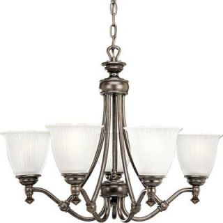 Progress Lighting Renovations Collection 5 Light Forged Bronze Chandelier P4115 77