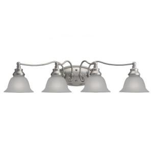 Sea Gull Lighting Canterbury 4 Light Brushed Nickel Vanity Fixture DISCONTINUED 49653BLE 962