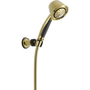Delta 5 Spray Adjustable Wall Mount Hand Shower in Polished Brass 59515 PB