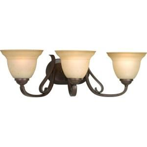 Progress Lighting Torino Collection 3 Light Forged Bronze Bath Light P2883 77