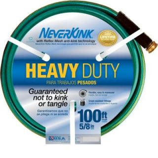 Neverkink 5/8 in. x 100 ft. Heavy Duty Water Hose 8605 100