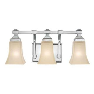 Hampton Bay 3 Light Chrome Bath Light 25123