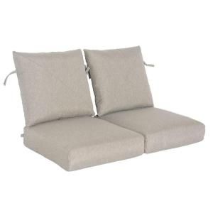 Hampton Bay Marwood Replacement Outdoor Loveseat Cushion 131 008 LS CSH