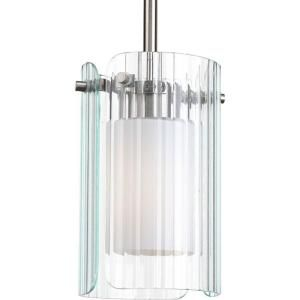 Progress Lighting Coupe Collection 1 Light Brushed Nickel Mini Pendant P5102 09WB