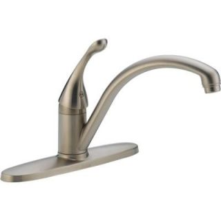 Delta Collins Lever Single Handle Kitchen Faucet in Stainless Steel 140 SS DST
