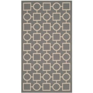 Safavieh Courtyard Anthracite/Beige 2.6 ft. x 5 ft. Area Rug CY6925 246 3