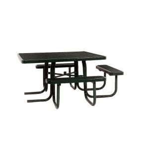 Ultra Play 46 in. x 55 in. Diamond Black Commercial Park Surface Mount and Portable ADA Square Table PBK358H VBK