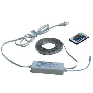Commercial Electric 8 ft. Color Changing LED Flexible Tape Light with Wireless Remote DC5237WH A