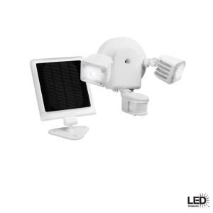 Defiant 500 Lumen Twin Solar Outdoor Motion White LED Security Light 2100W