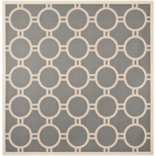 Safavieh Courtyard Anthracite/Beige 7.8 ft. x 7.8 ft. Square Area Rug CY6924 246 8SQ
