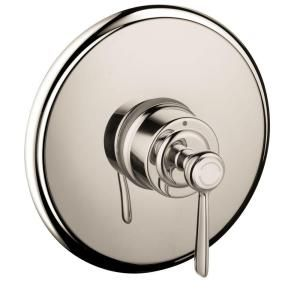 Hansgrohe Axor Montreux 1 Handle Pressure Balance Shower Faucet Trim Kit in Polished Nickel (Valve Not Included) 16508831