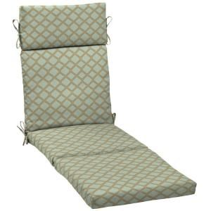 Hampton Bay Bayou Lattice Outdoor Chaise Lounge Cushion AD13853B 9D1