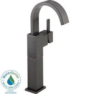 Delta Vero Single Hole 1 Handle High Arc Bathroom Vessel Faucet in Venetian Bronze 753LF RB