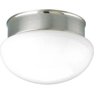 Progress Lighting 1 Light Brushed Nickel Flushmount P3408 09